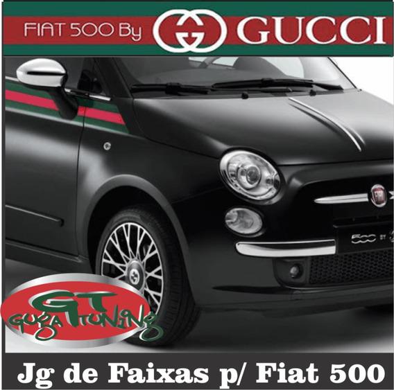 Faixa Adesiva Fiat 500 By Gucci N É Impresso N Desbota
