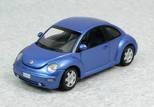 1:43 Autoart 59731 Vw New Beetle - Bright Blue Fusca