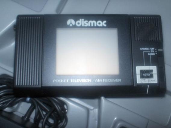 Mini Tv / Radio Am Dismac Preto / Branco Vintage