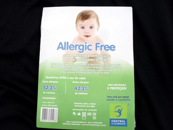 Capa Impermeável P/ Travesseiro Bebê 30x40cm Allergic Free