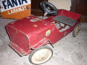 Brinquedo Antigo Jipe De Pedal Car De Lata Bandeirante 1950
