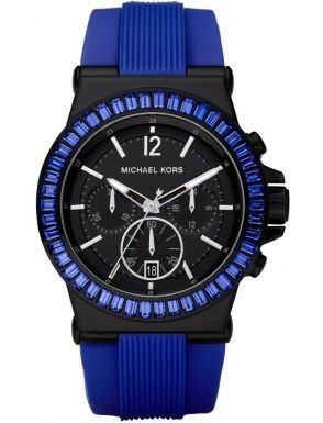 Relógio Michael Kors Mk5466 Orig Chron Anal Silic Blue!