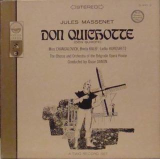 Jules Massenet Don Quixote Caixa Import 2 Lps + Livreto