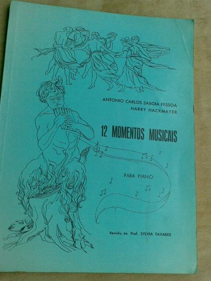 Livro. 12 Momentos Musicais Para Piano. Antonio Carlos Saboi