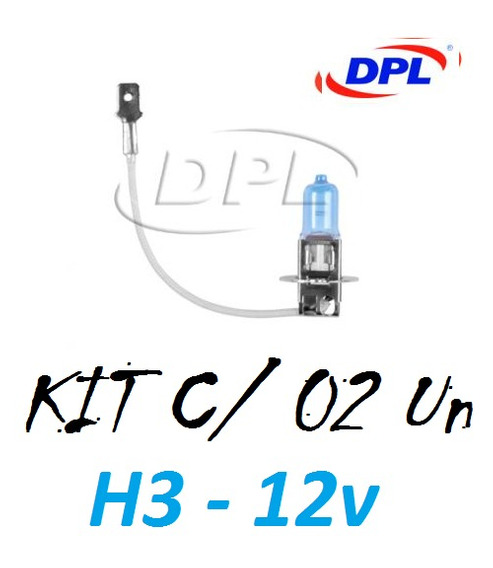Kit Par Lampada H3 Super Branca Tipo Xenon Dpl C/ Inmetro