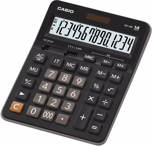 Calculadora Casio Gx 14b 14 Digitos Grandisplay Pila-solar