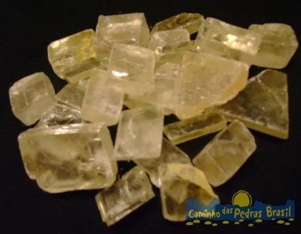 Calcita Ótica Unid 1cm Pedra Gema Mineral Natural P/ Coleção