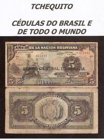 Bolívia 5 Bolivianos 1911 P. 113 Mbc Cédula - Tchequito