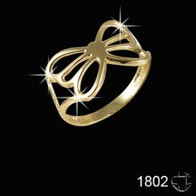 Anel Folheado A Ouro 18k-nr16