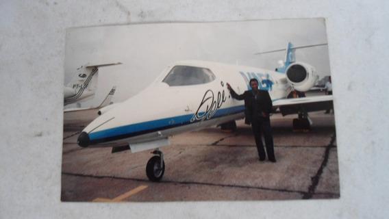 Foto De Pelé Com Seu Avião
