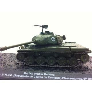 Miniatura Tanque Do Exército Brasileiro M-41 A 3 Escala 1:72