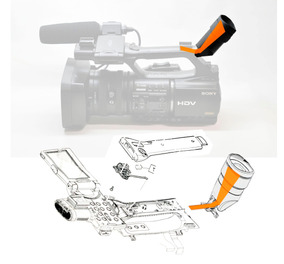 Sony Z5 Hdr-fx1000 Z5 Filmadora Visor Flat Cable View Finder