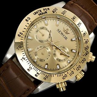 Reloj Hombre Sewor Mechanical Calendar Mens Dress Es