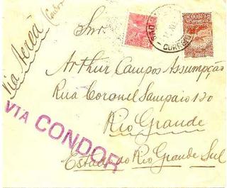 Envelope Sindicato Condor São Paulo Rio Grande Sul 1932