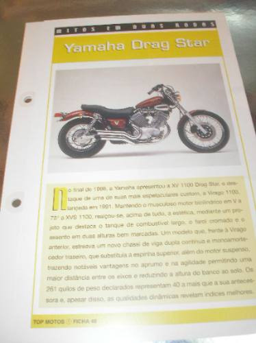 ( L - 430 ) Folder Motocicleta Yamaha Drag Star
