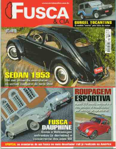 Fusca & Cia Nº44 Dauphine Gurgel Tocantins Vw Sedan 1953