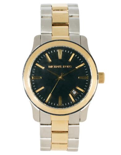 Relógio Michael Kors Mk7064 Runway Orig Gold Silver