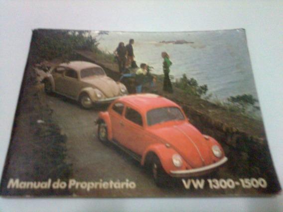 Manual Proprietario Vw 1300/1500 Ano 1971 Original