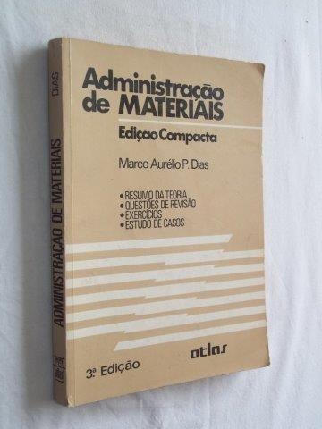 * Livro Administração De Materiais Marco Aurélio P. Dias