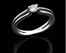 d731b948f0520 Anel Solitário Com Diamante De 30 Pt Em Diamantes E Ouro 18k no ...