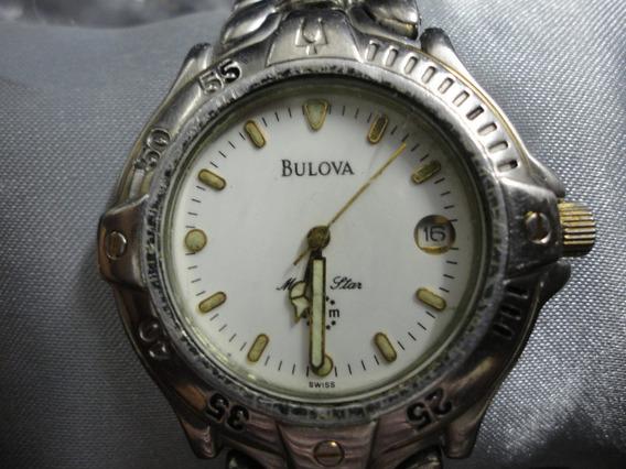 Relógio Bulova Antigo Aço/ouro