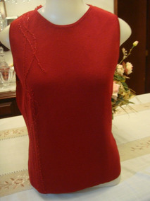 Blusa Bordada Vermelha Tam. G Cenarium Malha Fria