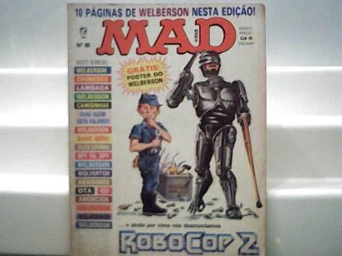 Revista Mad Nº 65 Robocop 2 Agosto 1990 Editora Record