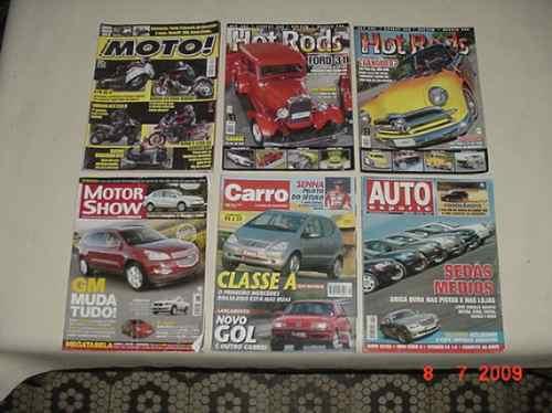 * 6 Revistas Diversas De Carros E Motos *
