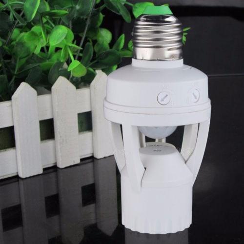 Sensor De Presença E Fotocélula P/ Lâmpada Timer Soquete E27