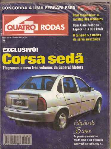 Revista Quatro Rodas - Mondeo/ Fist Cinquecento/ Gurgel Supe