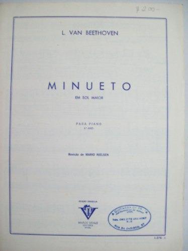 Piano - Minueto - 1945 - L.van Beethoven -cód. 165