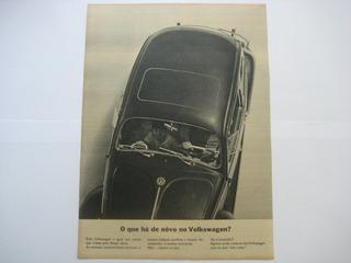 1a) Propaganda Antiga Automóvel Carro Fusca Volkswagen
