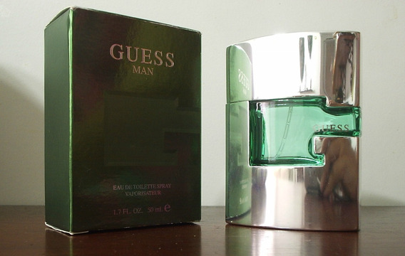 Embalagem Vazia Perfume Guess Man Para Colecionadores