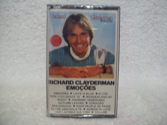 Fita Cassete Original Richard Clayderman- Emoções- Lacrada