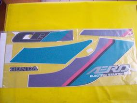 Adesivo Da Cbx 150 91 Azul (faixas De Tanque Jogo)