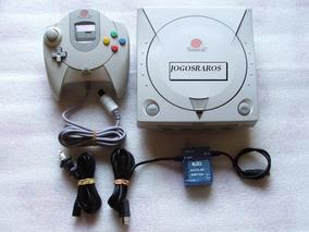 Dreamcast Americano + Controle + Cabo A/v E Garantia! 100 Ok