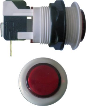Kit 100 Peças Chave Botão Acrílico Vermelho Fliperama Arcade