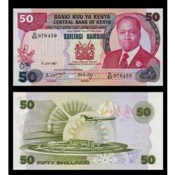 Quênia 50 Shillings 1987 P. 22d Fe Cédula - Tchequito