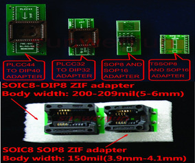 Kit De Adaptadores Plcc To Dip - Tssop To Sop16 Para Tl866xx