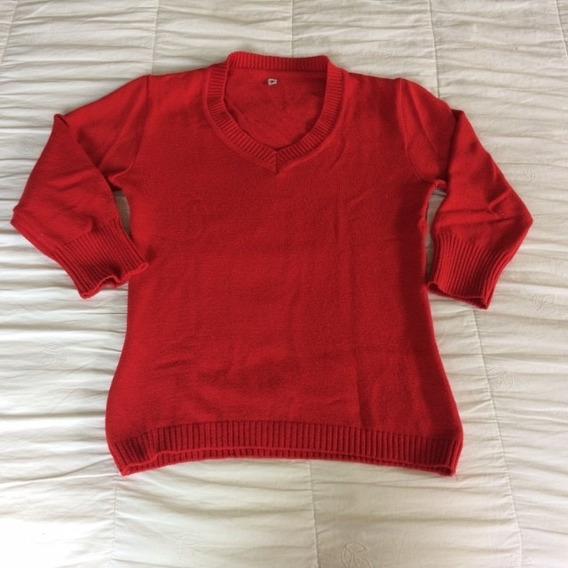 Blusa Casaco Sueter Cardigan Vermelho