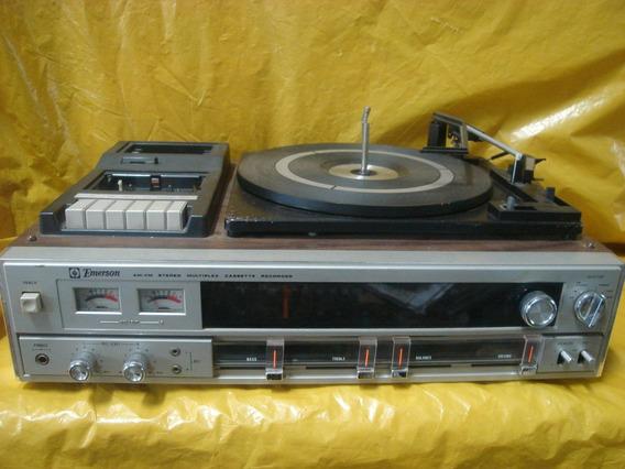 Conjto De Som Emerson 3 X 1 - Vinil+deck+radio - Made Japan