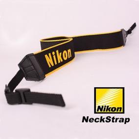 Alça, Correia De Pescoço Cinza Nylon Para Nikon Slr Digitais