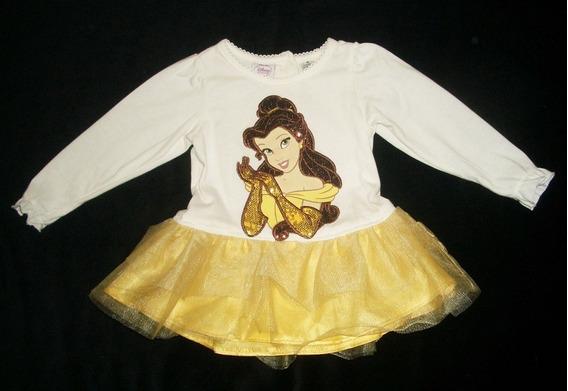 Vestido Tutu Importado Princesa Bella 1 Ano Brinde!