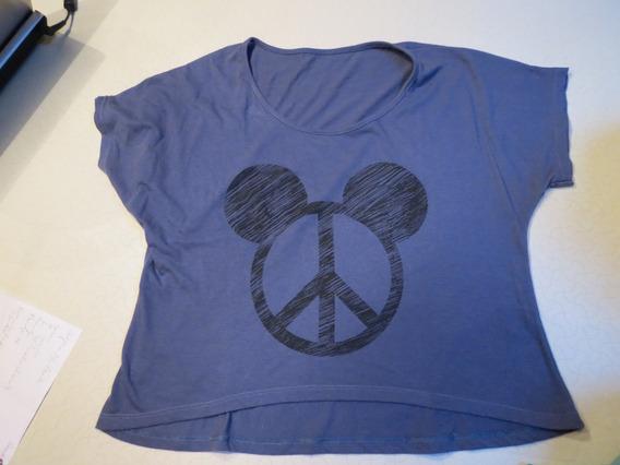 Remera Símbolo De La Paz Y Mickey Excelente Estado!!