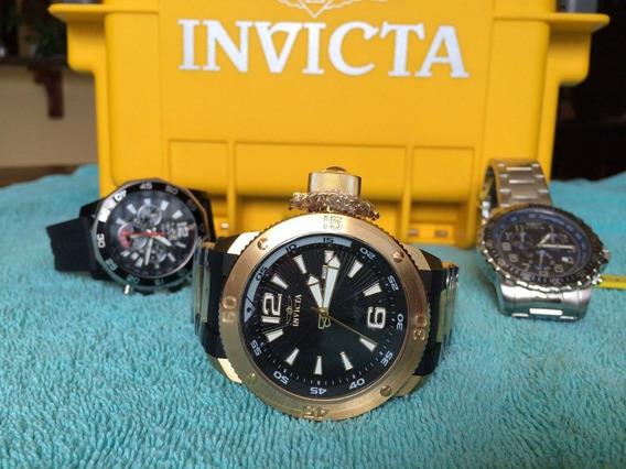 3 Invicta Mod.12964, 7433 & 6621 S/case No Brasil!