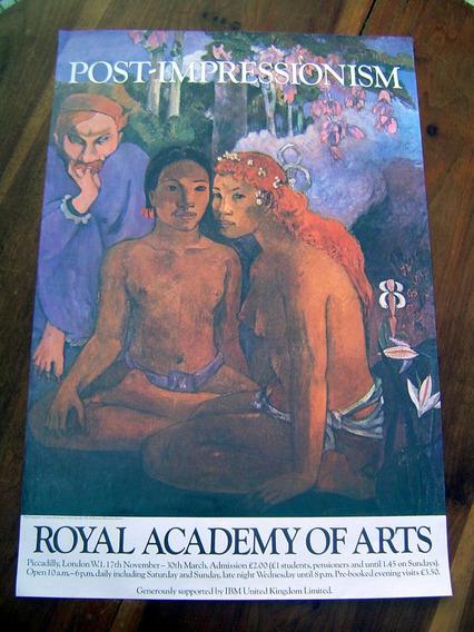 Cartaz Pôster Antigo Royal Academy Arts / Paul Gauguin Orig