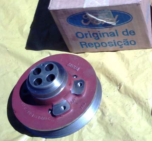 Polia Virabrequim Motor Mwm X10 6c Original Ford Caminhão 98