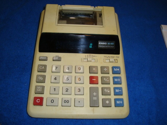 Calculador Elétrica Casio Desk Top Printing Hr-100t Arte Som