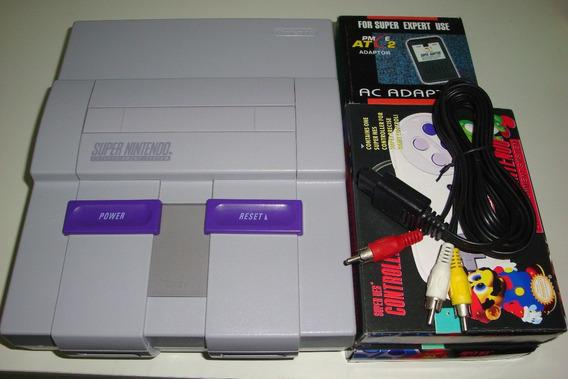 Super Nintendo + 2 Controles + 5 Jogo Q Vc Escolhe