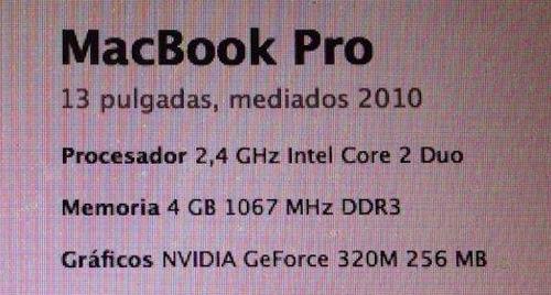 Imagen 1 de 1 de Macbook Pro